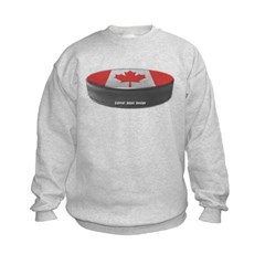 Canadian Hockey Kids Crewneck Sweatshirt by Hanes