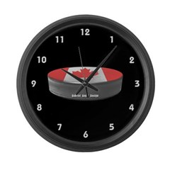 Canadian Hockey Large Wall Clock