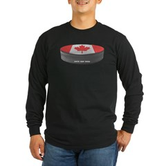 Canadian Hockey Long Sleeve Dark T-Shirt