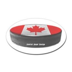 Canadian Hockey Oval Decal