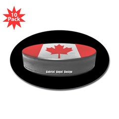 Canadian Hockey Oval Sticker (10 pk)
