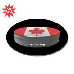 Canadian Hockey Oval Sticker (50 pk)