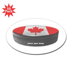 Canadian Hockey Oval Sticker (50 pk)