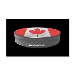 Canadian Hockey Rectangle Decal