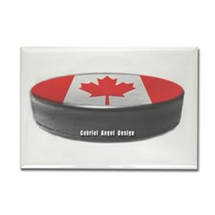 Canadian Hockey Rectangle Magnet