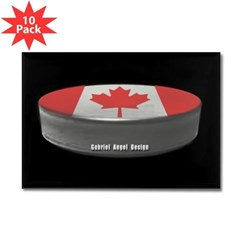 Canadian Hockey Rectangle Magnet (10 pack)
