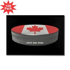 Canadian Hockey Rectangle Magnet (100 pack)