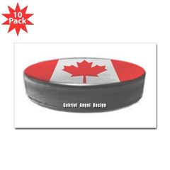 Canadian Hockey Rectangle Sticker 10 pk)