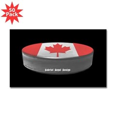 Canadian Hockey Rectangle Sticker 50 pk)