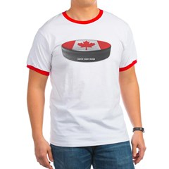 Canadian Hockey Ringer T-Shirt