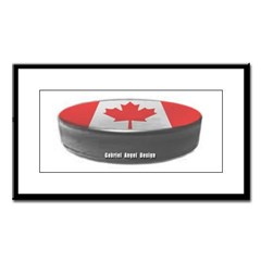 Canadian Hockey Small Framed Print