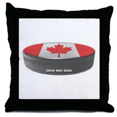Canadian Hockey Throw Pillow