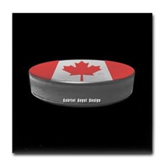 Canadian Hockey Tile Coaster