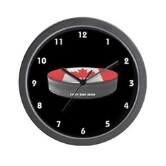Canadian Hockey Wall Clock