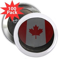 "Canadian Hockey Puck 2.25"" Button (100 pack)"