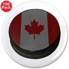"Canadian Hockey Puck 3.5"" Button (100 pack)"