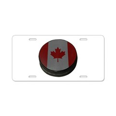 Canadian Hockey Puck Aluminum License Plate