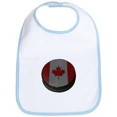 Canadian Hockey Puck Baby Bib