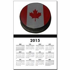 Canadian Hockey Puck Calendar Print