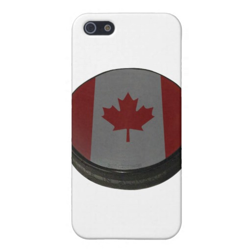 Canadian Hockey Puck Case Savvy Matte Finish iPhone 5/5S Case