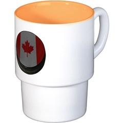 Canadian Hockey Puck Coffee Cups