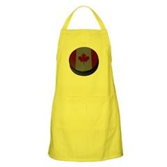 Canadian Hockey Puck Dark Apron