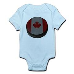 Canadian Hockey Puck Infant Bodysuit