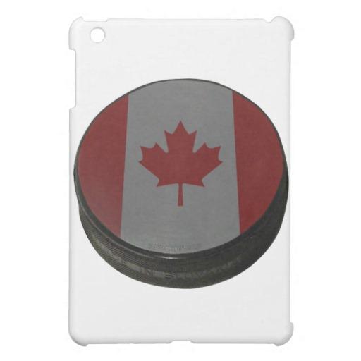 Canadian Hockey Puck iPad Mini Matte Finish Case