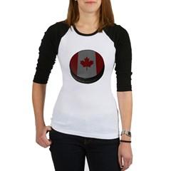 Canadian Hockey Puck Junior Raglan T-shirt