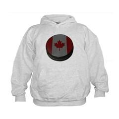 Canadian Hockey Puck Kids Sweatshirt by Hanes