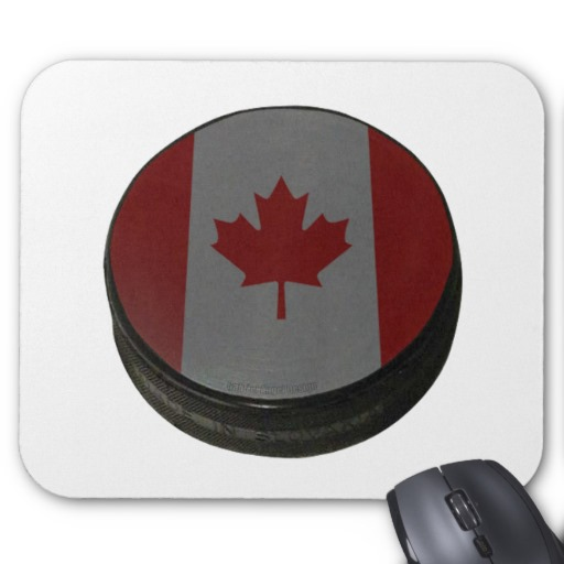 Canadian Hockey Puck Mousepad