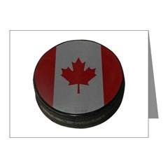 Canadian Hockey Puck Note Cards (Pk of 10)