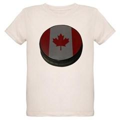 Canadian Hockey Puck Organic Kids T-Shirt