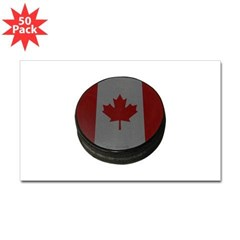Canadian Hockey Puck Rectangle Decal 50 Pack