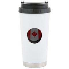 Canadian Hockey Puck Travel Mug