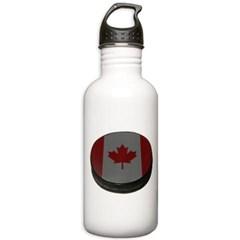 Canadian Hockey Puck Water Bottle