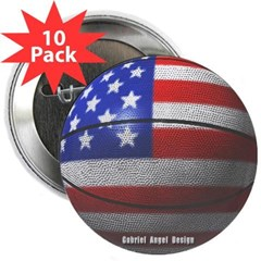 "USA Basketball 2.25"" Button (10 pack)"