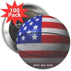 "USA Basketball 2.25"" Button (100 pack)"