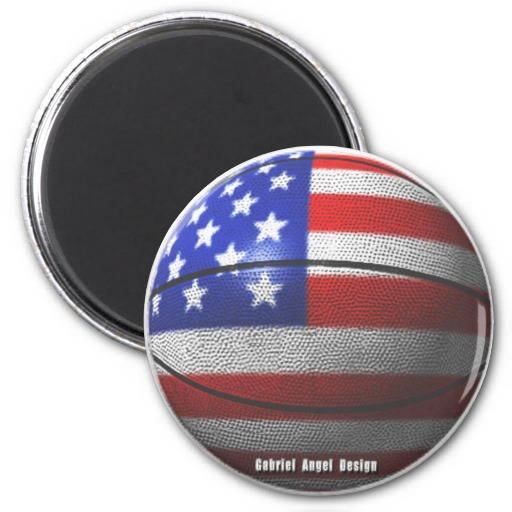 USA Basketball 2 Inch Round Magnet