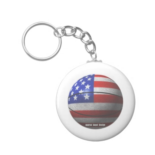 USA Basketball Basic Button Keychain