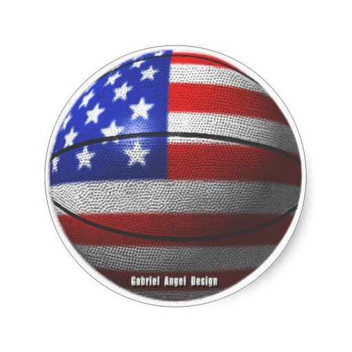 USA Basketball Classic Round Sticker