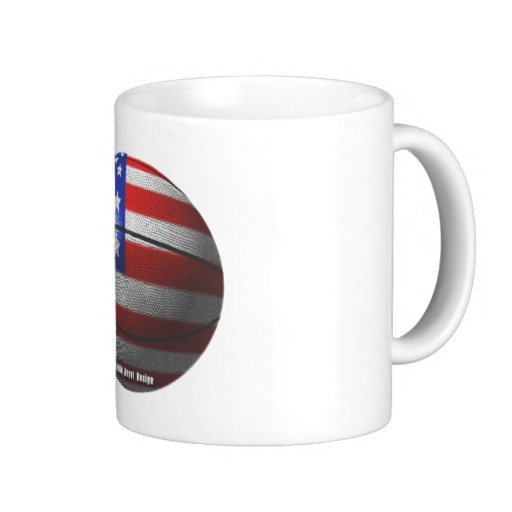 USA Basketball Classic White Mug
