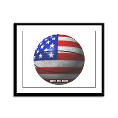 USA Basketball Framed Panel Print