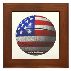 USA Basketball Framed Tile