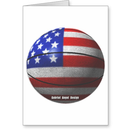 USA Basketball Greeting Card
