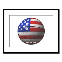 USA Basketball Large Framed Print