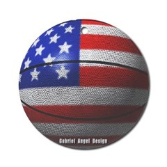 USA Basketball Ornament (Round)