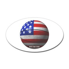 USA Basketball Oval Decal