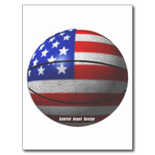 USA Basketball Postcard