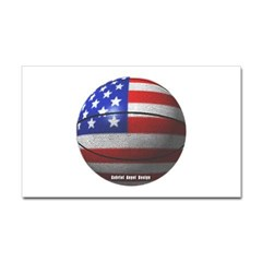 USA Basketball Rectangle Decal